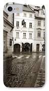 Vintage Walk In Prague IPhone Case by John Rizzuto