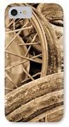 Vintage Wire Wheels IPhone Case by Steve McKinzie