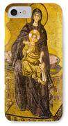 Virgin Mary With Baby Jesus Mosaic IPhone Case by Artur Bogacki