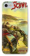 Visit Switzerland 1895 IPhone Case by Mountain Dreams
