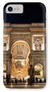 Vittorio Emanuele II Gallery IPhone Case by Michal Bednarek
