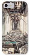 Walk Of Death - Abandoned Asylum IPhone Case by Gary Heller