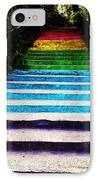 Walkin' On Rainbow IPhone Case by Lucy D