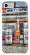 Wally's Service Station IPhone Case by Dan Stone