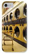 Washing Machines At Laundromat IPhone Case by Amy Cicconi