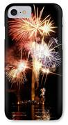 Washington Monument Fireworks 2 IPhone Case by Stuart Litoff