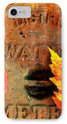 Water Meter Cover With Autumn Leaves Abstract IPhone Case