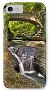 Watkins Glen Waterfalls IPhone Case by Anthony Sacco