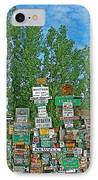 Watson Lake Sign Forest-yt IPhone Case by Ruth Hager