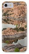 Watson Lake Sunset IPhone Case by Angie Schutt