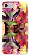 Waves Of Color IPhone Case by Judy Palkimas