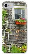 Weathered Maine Seacoast Barn IPhone Case by Thomas Schoeller