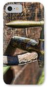 Weathered Tap And Barrel IPhone Case by Paul Ward