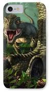 Wee Rex IPhone Case by Jerry LoFaro