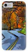 West Virginia Curves 2 Line Art IPhone Case