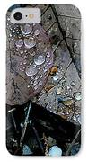Wet Leaves IPhone Case by Artist and Photographer Laura Wrede