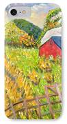Wheat Harvest Kamouraska Quebec IPhone Case by Patricia Eyre