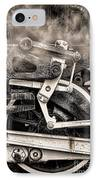 Wheel And Steam IPhone Case by Olivier Le Queinec