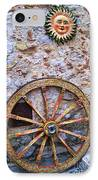 Wheel And Sun In Taromina Sicily IPhone Case