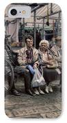 Which One Is The Statue IPhone Case by Doc Braham