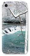 Whitaker Falls In Winter IPhone Case by Thomas R Fletcher