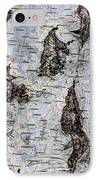 White Birch Abstract  IPhone Case