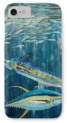 White Marlin Original Oil Painting 24x36in On Canvas IPhone Case by Manuel Lopez
