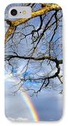White Oak And Double Rainbow IPhone Case by Thomas R Fletcher