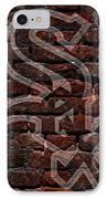 White Sox Baseball Graffiti On Brick  IPhone Case by Movie Poster Prints