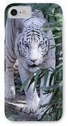 White Tiger  IPhone Case by Shoal Hollingsworth