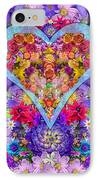 Wild Flower Heart IPhone Case by Alixandra Mullins