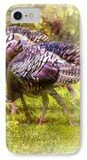 Wild Turkey Hens IPhone Case by Barry Jones