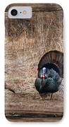 Wild Turkeys IPhone Case by Lori Deiter