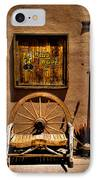 Wild West T-shirts - Old Town New Mexico IPhone Case by David Patterson