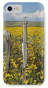 Wildflowers Surround Rustic Barb Wire IPhone Case by David Ponton