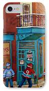 Wilensky Montreal-fairmount And Clark-montreal City Scene Painting IPhone Case by Carole Spandau