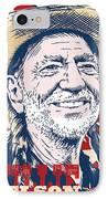 Willie Nelson Pop Art IPhone Case by Jim Zahniser