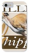 Willie The Whippet IPhone Case by Liane Weyers