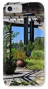 Wind Chime In A Garden IPhone Case