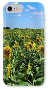 Windblown Sunflowers IPhone Case by Robert Frederick