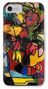 Wine And Flowers For Two IPhone Case by Everett Spruill