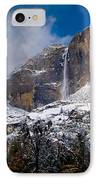 Winter At Yosemite Falls IPhone Case by Bill Gallagher