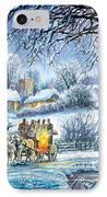 Winter Coaches IPhone Case by Steve Crisp