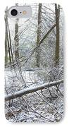 Winter Fallen Tree IPhone Case
