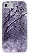 Winter In Purple IPhone Case