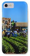 Winter Lettuce Harvest IPhone Case by Robert Bales