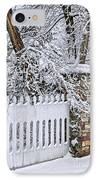 Winter Park Fence IPhone Case by Elena Elisseeva