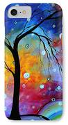 Winter Sparkle Original Madart Painting IPhone Case by Megan Duncanson