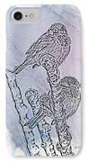 Winter Sparrows 1 IPhone Case by Betty LaRue