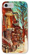 Winter Staircase IPhone Case